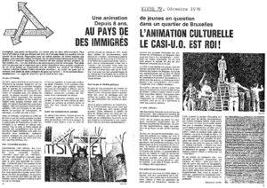 AU PAYS DE L ANIMATION CULTURELLE DES IMMIGRES LE CASI-UO EST ROI article Vivre 1979