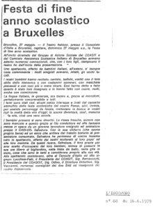 FESTA DI FINE ANNO SCOLASTICO A BRUXELLES L Incontro 1979-page-001