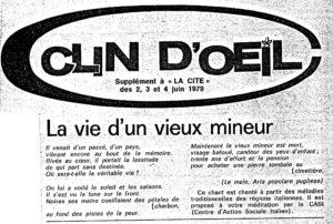 LA VIE D UN VIEUX MINEUR clin d oeil 1979