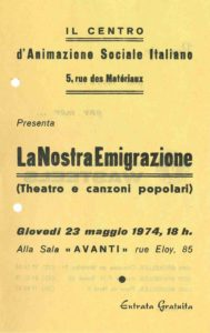 La Nostra Emigrazione 1974