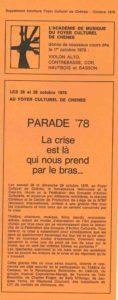 PARADE 78