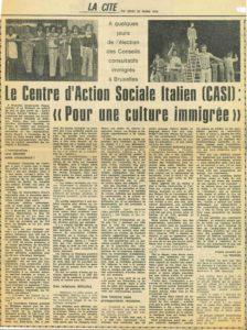 POUR UNE CULTURE IMMIGRE La Cité 1979