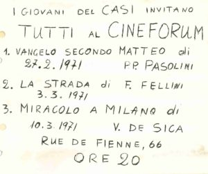 PREMIER EVENEMENT CASI CINEMA 1971