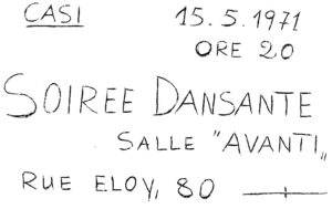 SOIREE DANSANTE 15.05.1971