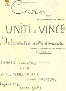 UNITI SI VINCE 3 affiche novembre 1979
