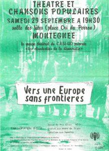 VERS UNE EUROPE SANS FRONTIERES 1979