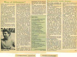 WEES OF DELINQUENT artikel De Wereld Morgen 1979-page-001