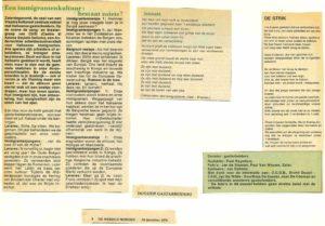 artikel De Wereld Morgen 24 december 1979