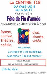 FETE DE FIN D'ANNEE 25 Juin 2000