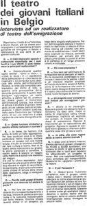 IL TEATRO DEI GIOVANI ITALIANI IN BELGIO articolo L Incontro dei lavoratori 1983