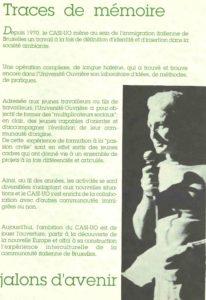 TRACES DE MEMOIRE JALONS D'AVENIR 1990