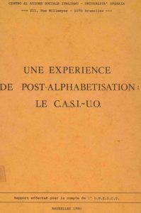 UNE EXPERIENCE DE POST-ALPHABETISATION 1980