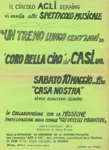 affiche UN TRENO LUNGO CENT'ANNI 1980