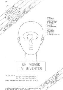 affiche Un visage a inventer 1980