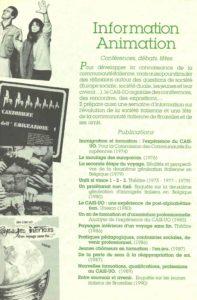 brochure CASI-UO Info et Publications 1990