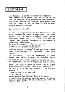 LA PIAZZA N.10 Novembre 1989 editorial