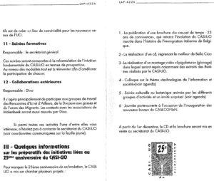 LA PIAZZA N.48 Octobre 1995 initiative 25 ans