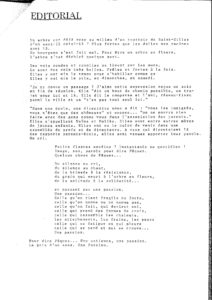 LA PIAZZA N.6 Mars 1989 editorial