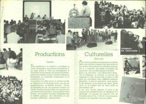 brochure CASI-UO Productions Culturelles 1990